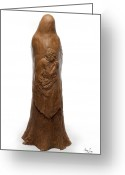 Bronze Sculpture Greeting Cards - Back view of Saint Rose Philippine Duchesne sculpture Greeting Card by Adam Long