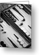 Parlor Greeting Cards - Backgammon Greeting Card by Joana Kruse