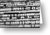 Background Greeting Cards - #background #newspaper #blackandwhite Greeting Card by Sujittra Chieweiamwattana