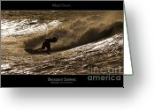 Surf Lifestyle Greeting Cards - Backlight Surfing - Maui Hawaii Posters Series Greeting Card by Denis Dore
