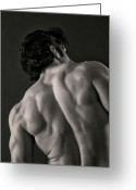 Male Physique Greeting Cards - Backscape II Greeting Card by Thomas Mitchell
