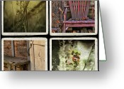 Old Doors Greeting Cards - Backward Glance Greeting Card by Bonnie Bruno