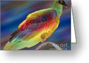 Bird Of Prey Digital Art Greeting Cards - Backyard Vulture Greeting Card by John Rosa