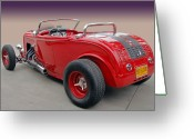 Ford Roadster Greeting Cards - Bad Blood Greeting Card by Bill Dutting