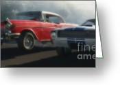 Street Rods Greeting Cards - Bad Company Greeting Card by Richard Rizzo
