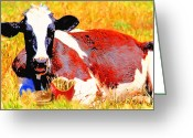 Ronald Greeting Cards - Bad Cow . 7D1279 Greeting Card by Wingsdomain Art and Photography