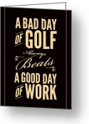 Golf Digital Art Greeting Cards - Bad Day of Golf Greeting Card by Mark Brown