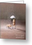 Raining Greeting Cards - Bad Weather 02 Greeting Card by Nailia Schwarz