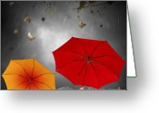 Metaphor Greeting Cards - Bad Weather Greeting Card by Carlos Caetano