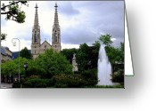 Baden-baden Greeting Cards - Baden - Baden Greeting Card by Deborah  Crew-Johnson