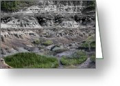 Drumheller Greeting Cards - Badlands 1 Greeting Card by Stuart Turnbull