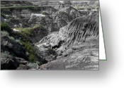 Drumheller Greeting Cards - Badlands 2 Greeting Card by Stuart Turnbull