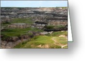 Drumheller Greeting Cards - Badlands 4 Greeting Card by Stuart Turnbull