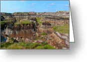 Drumheller Greeting Cards - Badlands 5 Greeting Card by Stuart Turnbull