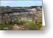 Drumheller Greeting Cards - Badlands 6 Greeting Card by Stuart Turnbull