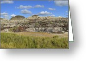 Drumheller Greeting Cards - Badlands Greeting Card by Angelito De Jesus