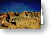 Carved Digital Art Greeting Cards - Badlands Greeting Card by Laurie Search
