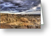 Colorado Photographers Greeting Cards - Badlands Of South Dakota Greeting Card by Bob Christopher