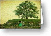 The Lord Of The Rings Greeting Cards - Bagend Homes Greeting Card by Linde Townsend