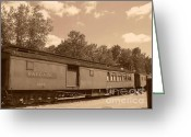 Baraboo Greeting Cards - Baggage Car Greeting Card by Charles Robinson
