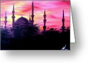 Landscape Posters Painting Greeting Cards - Baghdad Sunset Greeting Card by Michael McKenzie