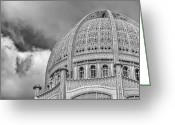 Concrete Greeting Cards - Bahai Greeting Card by Scott Norris