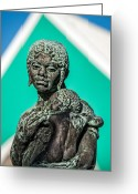 Christopher Holmes Greeting Cards - Bahamian Mother and Child Greeting Card by Christopher Holmes