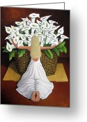 Sea Greeting Cards - BaileyRae Lilies Greeting Card by Lance Headlee
