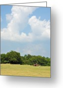 Rural Landscapes Greeting Cards - Bailing Greeting Card by Jan Amiss Photography