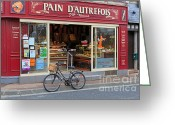 Selection Greeting Cards - Bakery and Pastry shop in Etretat Greeting Card by Louise Heusinkveld