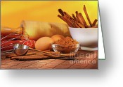 Cinnamon Greeting Cards - Baking ingredients Greeting Card by Sandra Cunningham
