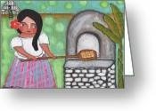 Island Cultural Art Greeting Cards - Baking Rolls Greeting Card by Jennifer R S Andrade