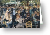 Reproductions Greeting Cards - Bal du Moulin de la Galette Greeting Card by Extrospection Art