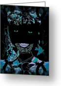 Violet Blue Greeting Cards - Bal Masque Greeting Card by Natalie Holland