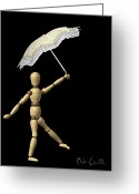 Umbrella Greeting Cards - Balance Greeting Card by Bob Orsillo