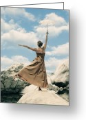 Edwardian Greeting Cards - Balance Greeting Card by Joana Kruse