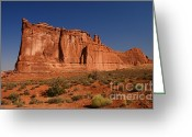 Equilibrium Greeting Cards - Balanced Rock Arches NP Greeting Card by ELITE IMAGE photography By Chad McDermott