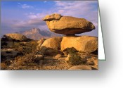 "\""guadalupe National Park\\\"" Greeting Cards - Balanced Rocks Guadalupe Mountain Greeting Card by Tim Fitzharris"