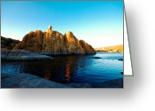 Watson Lake Greeting Cards - Balancing Act Greeting Card by Zee Helmick