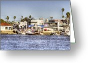 Corona Greeting Cards - Balboa Island Greeting Card by Ariane Moshayedi