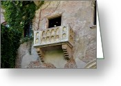 Romeo And Juliet Greeting Cards - Balcone di Romeo e Giulietta Greeting Card by Martina Fagan