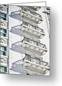 Duplicate Greeting Cards - Balconies Greeting Card by Marilyn Hunt