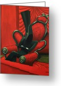 Magicians Greeting Cards - Balcony Greeting Card by Fabrini Crisci