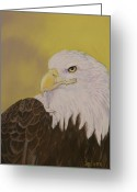 Eagle Pastels Greeting Cards - Bald Eagle Greeting Card by Robert Decker