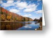 Folage Greeting Cards - Bald Mountain Pond Greeting Card by David Patterson