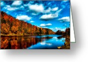 Folage Greeting Cards - Bald Mountain Pond II Greeting Card by David Patterson