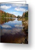 Folage Greeting Cards - Bald Mountain Pond in the Adirondacks Greeting Card by David Patterson