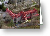 Chestnut Hill Wyndmoor Blue Bell Aerial Photographs Greeting Cards - Baldwin School 701 Montgomery Avenue Bryn Mawr PA 19010 Greeting Card by Duncan Pearson