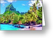 Hanalei Beach Greeting Cards - Bali Hai Greeting Card by Dominic Piperata