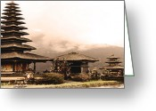 Ym_art Greeting Cards - Bali - Uluwatu island temple Greeting Card by Yvon -aka- Yanieck  Mariani